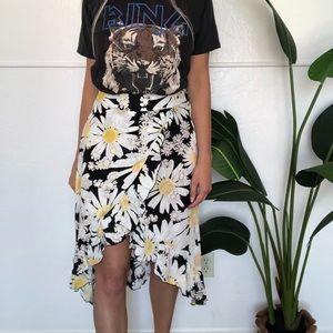 {Lauren Conrad} daisy ruffle high-low skirt